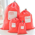 4pcs Universal Outdoor Travel Waterproof Nylon Drawstring Storage Bags Pouches Organizers