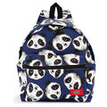 Women Panda Pattern Printing Canvas Backpack