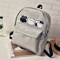 Girls Cute Three Cats Printing Canvas Backpack Schoolbag