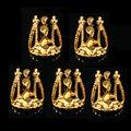 DANCINGNAIL 5Pcs Сплав 3D DIY Золото Серебро Пустое украшение Украшение наклейки для ногтей