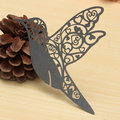 10Pcs Laser Cut Humming Bird Glass Place Cards Ivory Wedding Party Favor Accessories
