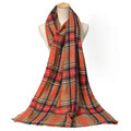 Tartan Plaid Blanket Scarf For Women Bandana Warm Square Scarves Winter Scarf Shawl Blanket