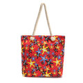 Reusable Starfish Canvas Shoulder Bag Travel Shopping Tote Handbag