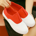Candy Color Canvas Slip On Breathable Casual Flat Shoes