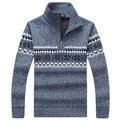 Winter Warm Thicken Plus Cashmere Casual Sweater for Men