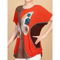 Casual Short Sleeves Printed T-shirts For Women