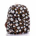 Women Canvas Backpac Retro Cartoon Backpack Multi-Color Bag