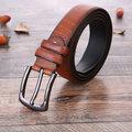 Men Retro Cowboy PU Leather Belt Grain Pattern Strap Fashion Pin Buckle Waistband