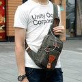 Portable Canvas Chest Bag Multi Pocket Crossbody Bag Casual Shoulder Bag For Men