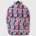 Women Students Lovely Cute Cat Print Cartoon Canvas Casual Backpack School Bags