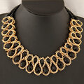 Women's Colorful Crystal Bib Necklace