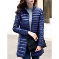 Casual Long Sleeves Stand Collar Down Coats