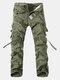 Мужские грузовые штаны Многофункциональные комбинезоны для повседневных хлопок
