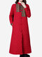 Ethnic Women Long Sleeve Plate Buckles Thicken Cotton Trench Coat