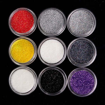 9 Colors Glitter Flash Eye Shadow Powder Loose Kit Spangle Cosmetics Makeup Pigment