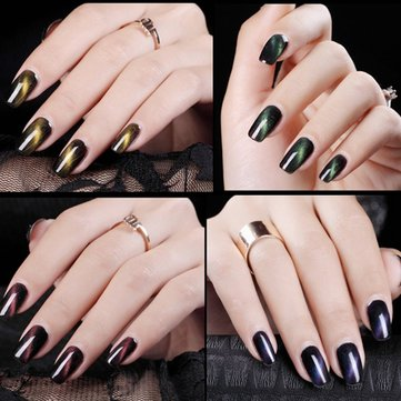 6 Colors Cat's Eye Liquid UV Gel Magnetic Magic Color Changing Nail Art Polish 18ml