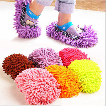 1 Pezzo di Copertura per Scarpe da Pulire il Pavimento Lazy Slippers da Pulire