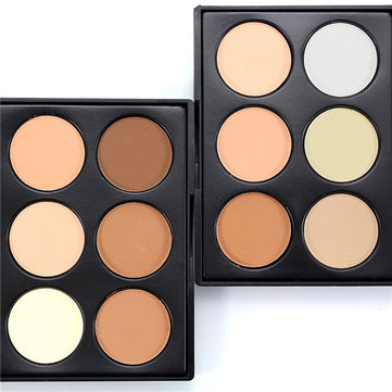 6 Colors Shading Powder Palette High Light Shadow Shape Makeup Cosmetic
