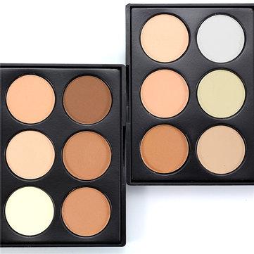 6 оттенков теней порошковой палитры High Light Shadow Shape Shape Makeup Cosmetic