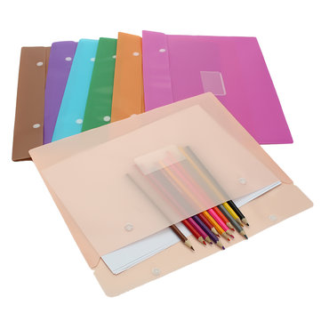 Colorful Document Bag Simple Snap File Folder Bag Office School Paper Bags Waterproof Kit Package