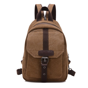 Men Women Casual Canvas Backpack Outdoor Travel Crossbody Bag Chest Bag