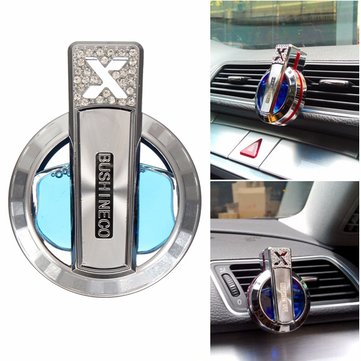 Car Air Liquid Freshener Perfume Diffuser Air Dashboard Clip Diamond Plated Decor Home Office