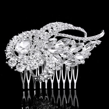 Buy Bridal Artificial Crystal Rhinestone Hair Comb Clip Bride Wedding Party Prom Headpiece