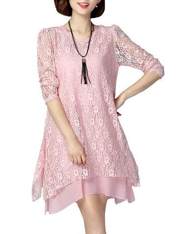 Элегантное платье с длинным рукавом с длинными рукавами
