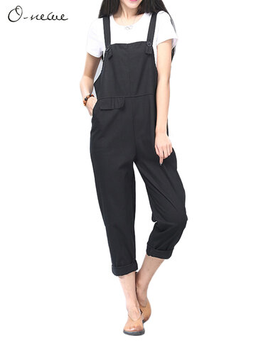 O-Newe Casual Strap Pockets Rompers Jumpsuit For Women
