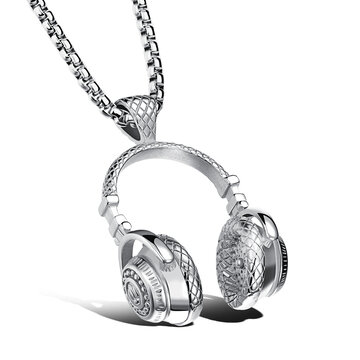 Men's Titanium Steel Earphone Necklace