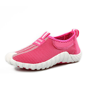 Sport Casual Mesh Outdoor Flat Breathable Slip On Athletic Shoes