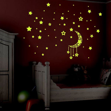 Little Star fluorescent luminous Wall Sticker Living Room Home Decoration Decal DIY Mural Wall Art