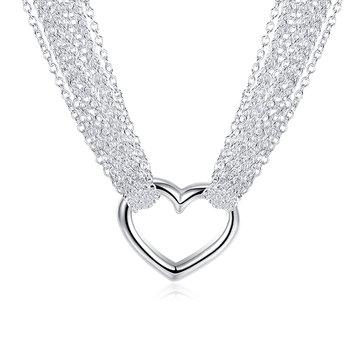Позолоченные Сердце Форма Многослойное Модное Ожерелье