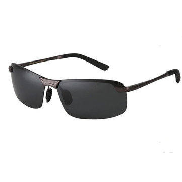 Men's Reedoon PC Polarized Frameless Single Girder Driving Fishing Sunglasses