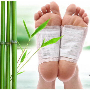 Detox Foot Patches Natural Cleansing Body Relief Toxins Feet Slimming Cleansing Herbal Pads