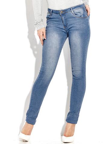 Women Casual Slim High Waist Pure Color Jeans