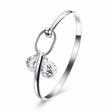 Sweet Elegant Bracelet Hollow Heart Ball Lock Bracelet for Women Gift