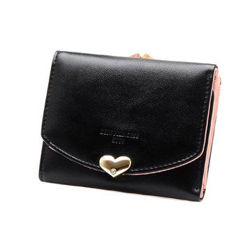 Candy Color Women Lovely PU Leather Wallet
