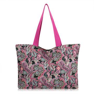 Women Flower Pattern Large Capacity Light Shopping Bags Handbag Shoulder Bags
