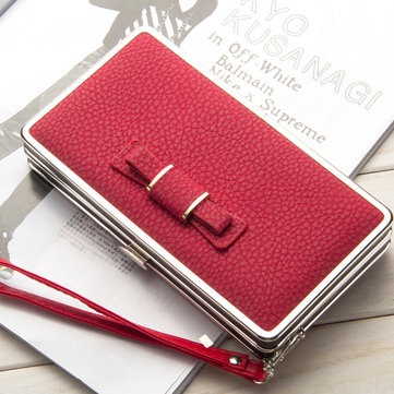 Women PU Leather Handy Multifunction Phone Bag Clutches Bag Phone Case