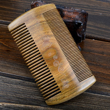Handmade Sandalwood Anti-Static Comb Beard and Mustache Hair Brush