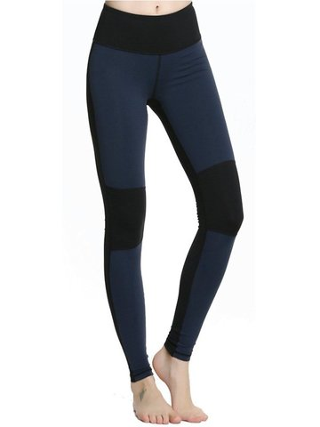Frauen Patchwork Stretch Yoga Circuit Training Leggings