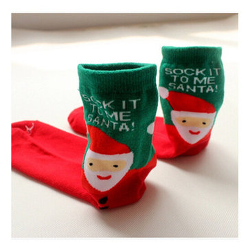 Women Socks Cartoon Pattern Cotton Blend Long Sox