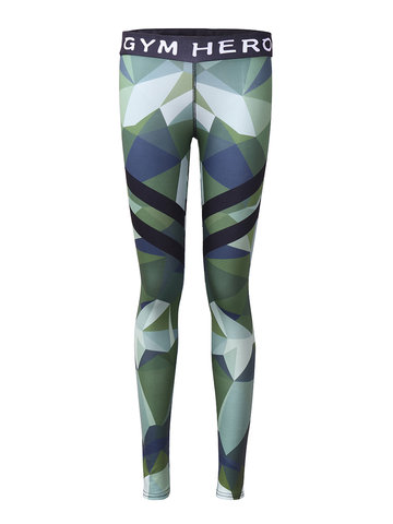Femmes Olive Drab Stretch Yoga Leggings