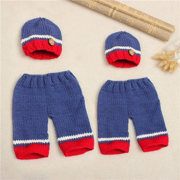 Buy Newborn Baby Girls Boys Crochet Knit Costume Photo Photography Prop Outfits