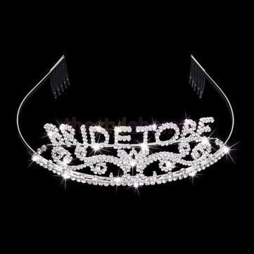 Wedding Headband Bachelorette Sparkle Tiara Hen Party Crown Bride Bridal Shower Supply