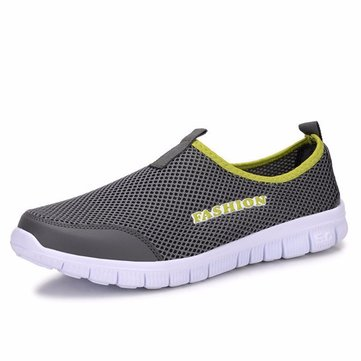 Men Mesh Breathable Slip On Outdoor Casual Sport Shoes