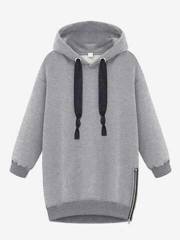 Sports Drawstring Hooded Women Casual Hoodies