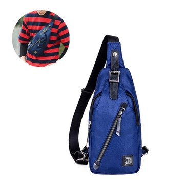 Leisure Travel Chest Pack Waterproof Oxford Cloth Shoulder Bag For Men