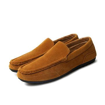 Мужчины Lazy Seude Повседневная обувь Легкие круглые Toe Moccasin Shoes